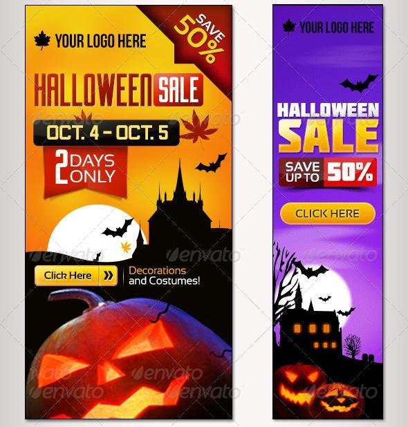 Bundle- 6 Sets of Halloween Banner Sets