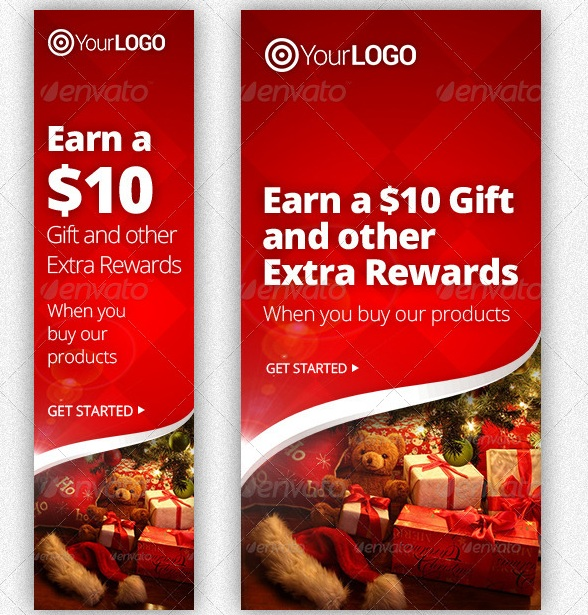 Christmas Gift Campaign Web Banners