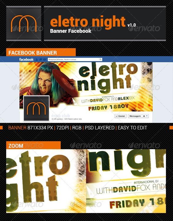 Electro Night v1.0 - Banner Facebook