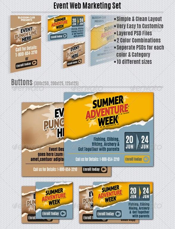 Event Web Marketing Set