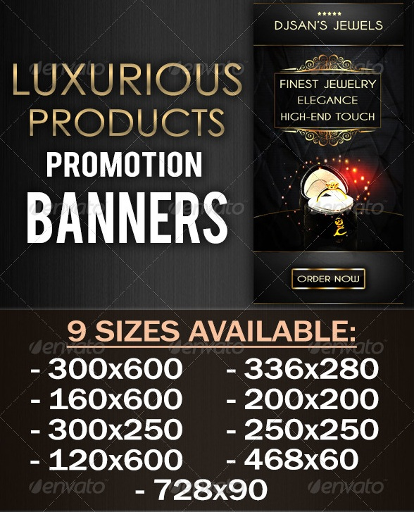 Luxurious Products Promotion Banner