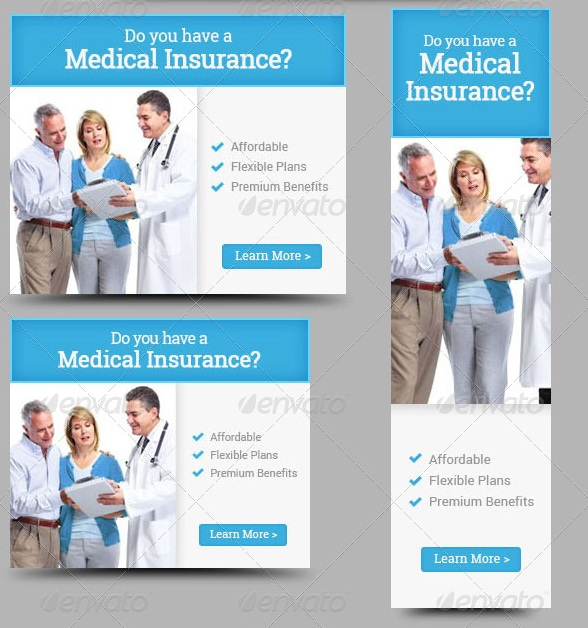 Medical Insurance Web Banner Design