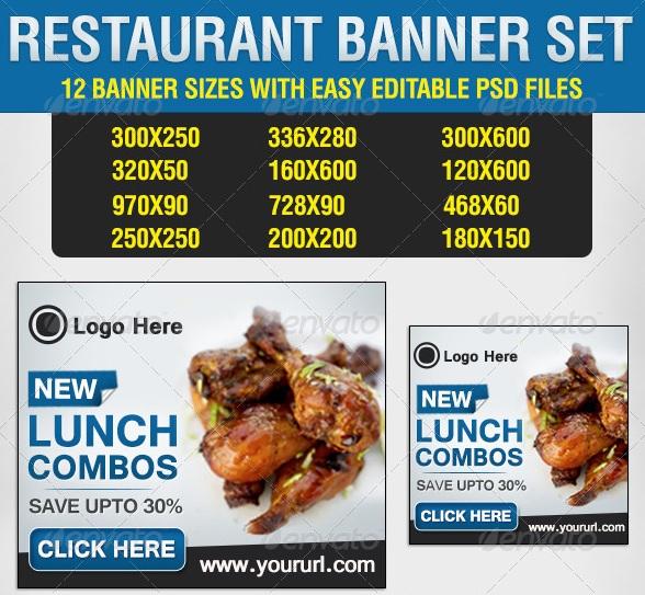 Restaurant Banner Set