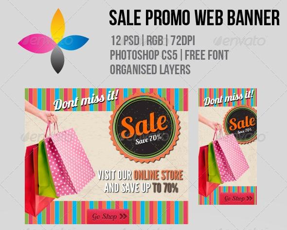 Sale Promo Web Banner