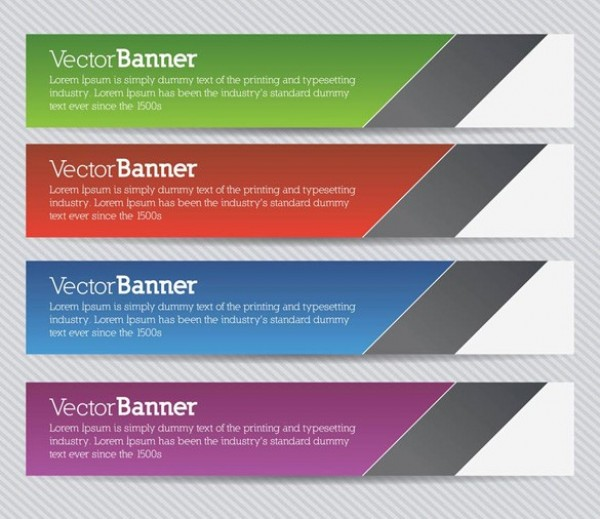 Colorful Back to School Banners Set