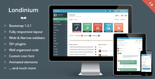 londinium - responsive bootstrap 3 admin template