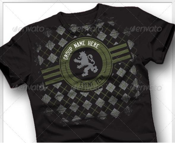 Argyle Crest Military Lion T-shirt