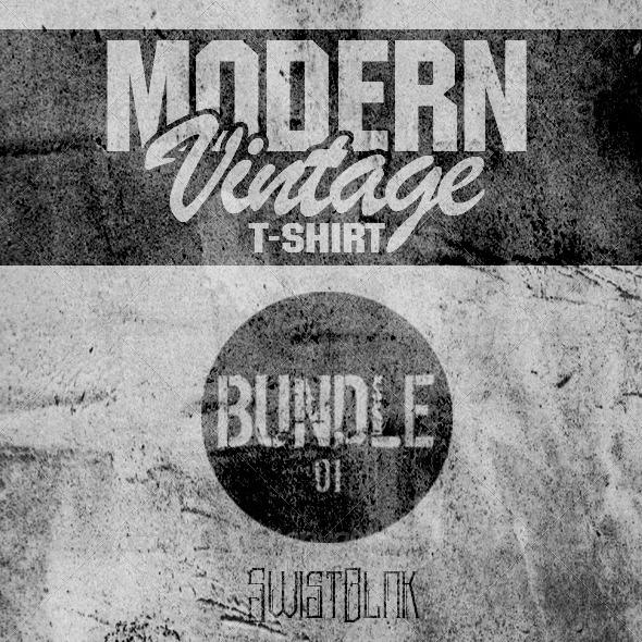 Modern Vintage T-Shirt Bundle 01