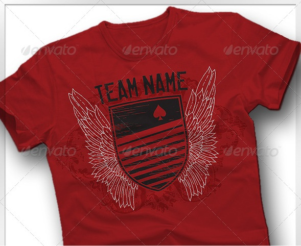 Rugby Style T-Shirt Template