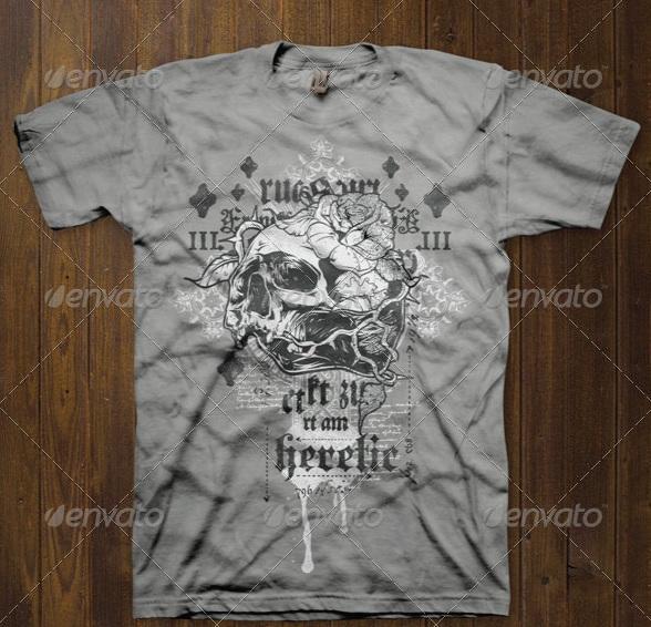 T-shirt Design Template 1