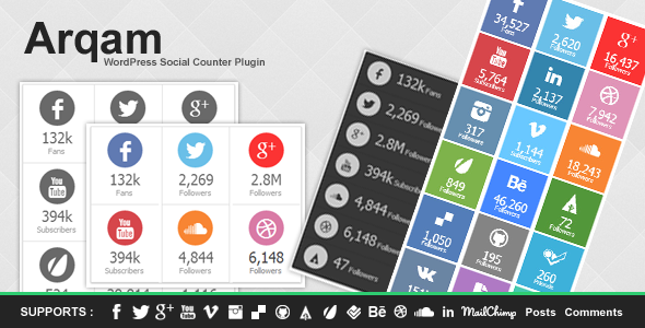 arqam - retina responsive wp social counter plugin