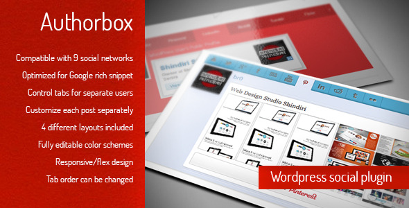 author box - wordpress social / author plugin