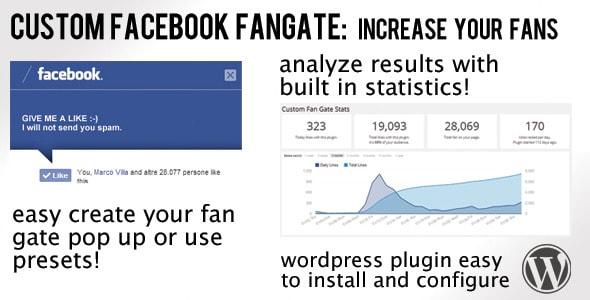 custom facebook fan gate plugin for wordpress