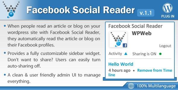 facebook social reader - wordpress plugin