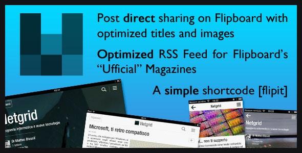 flipboard rss feed + shortcode