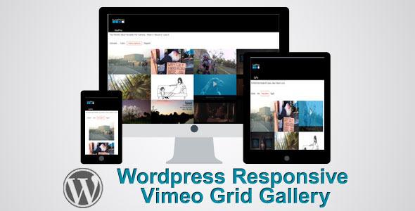 responsive wordpress vimeo grid video gallery