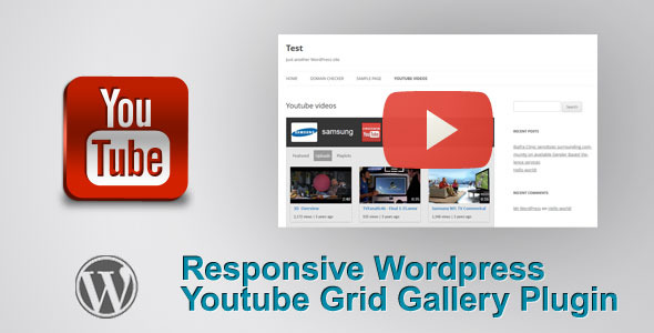 responsive wordpress youtube grid video gallery