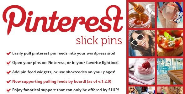 slick pins - pinterest feed widget & shortcode