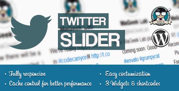 twitter slider & user card for wordpress