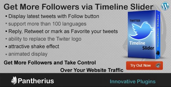 twitter timeline slider for wordpress