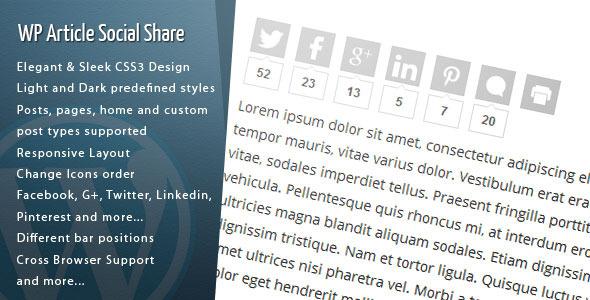 wordpress article social share