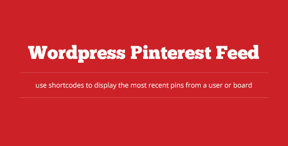 wordpress pinterest feed
