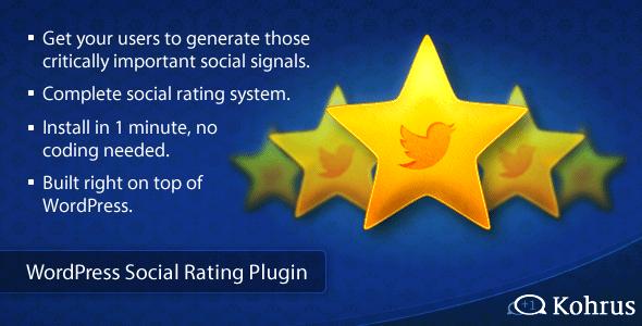 wordpress social rating plugin