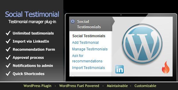 wordpress social testimonial system
