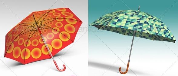 3d object - umbrella - apparel mockups