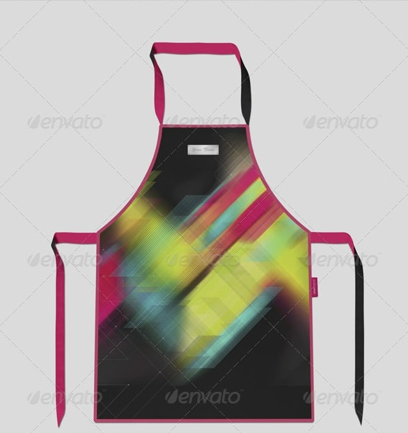 apron mock-up - apparel mockups