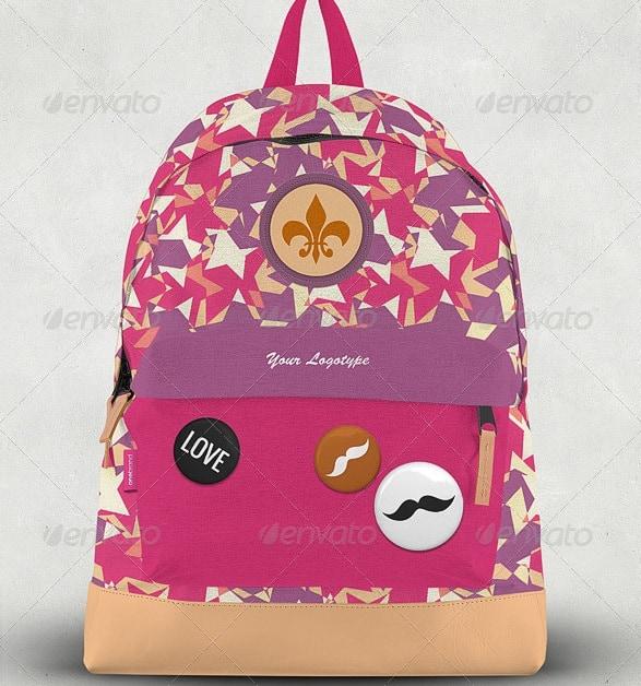 backpack mock-up - apparel mockups