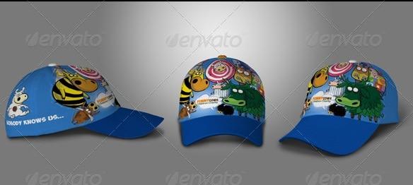 baseball hat & polo t-shirt mock up - apparel mockups