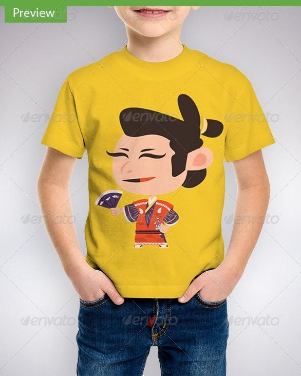 children t-shirt mock-up - apparel mockups