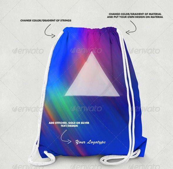 drawstring bag mock-up - apparel mockups