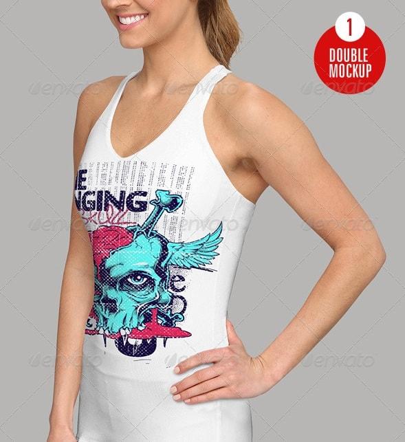 female tank top mockup - apparel mockups