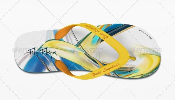 flip flops mock-up - apparel mockups
