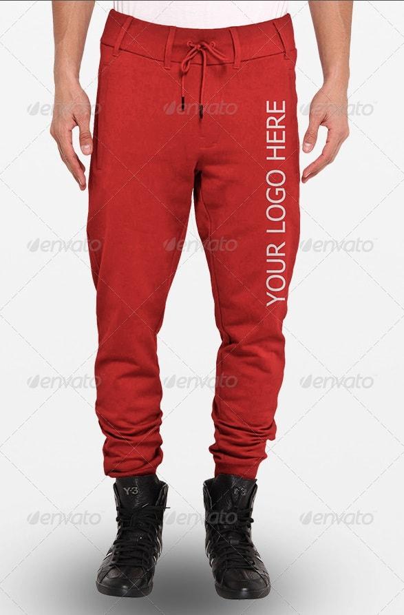 full sweatpants mock-ups - apparel mockups
