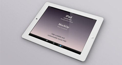 ipad psd perspective mock-up