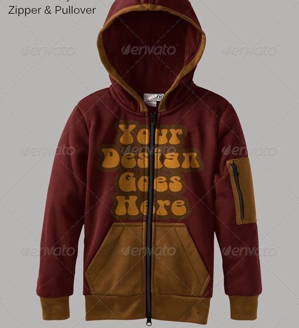 kids hoodie mock ups - apparel mockups