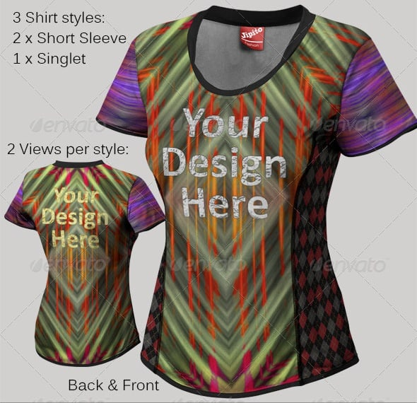 ladies sports shirt mock ups - apparel mockups