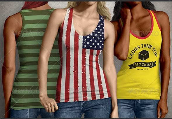 ladies tank top mock-up - apparel mockups