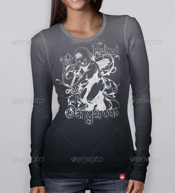 longsleeve & blouse and hoodie bundle - apparel mockups