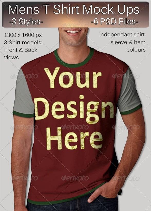 mens t shirt mock ups - apparel mockups