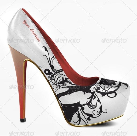 platform high heels mock-up - apparel mockups