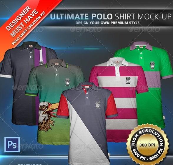 polo shirt mock-up - apparel mockups
