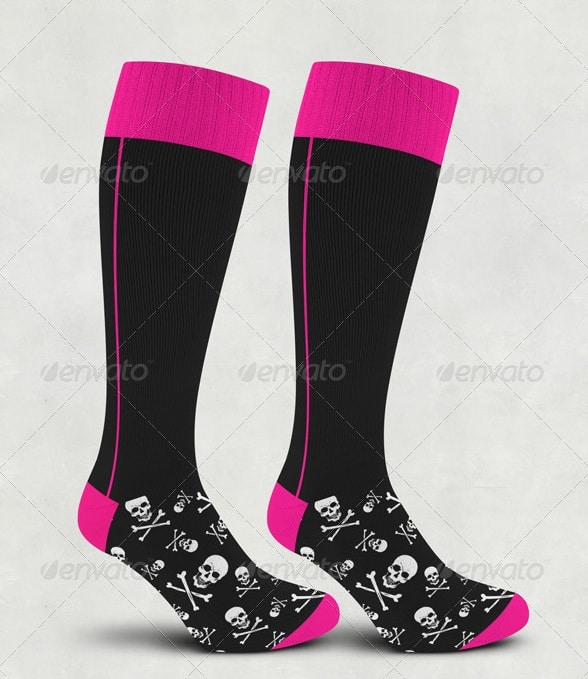snowboard socks mock-up - apparel mockups