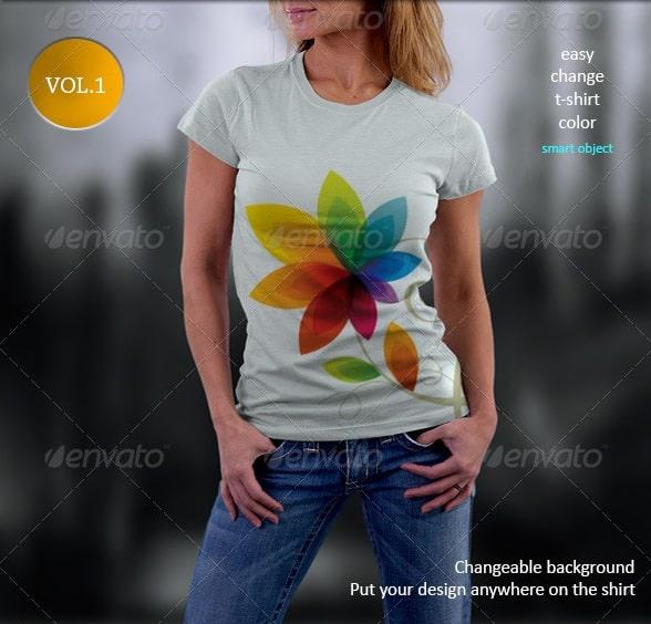 t-shirt mockup-vol.1 - apparel mockups