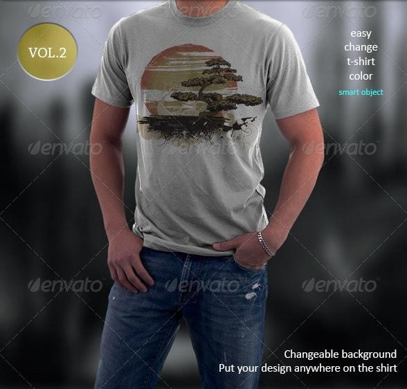 t-shirt mockup-vol.2 - apparel mockups