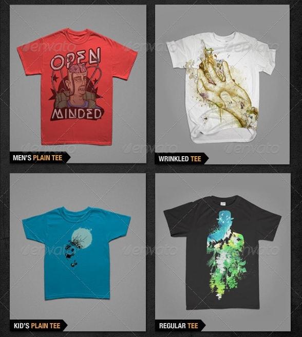 t-shirt mockups bundle pack - apparel mockups