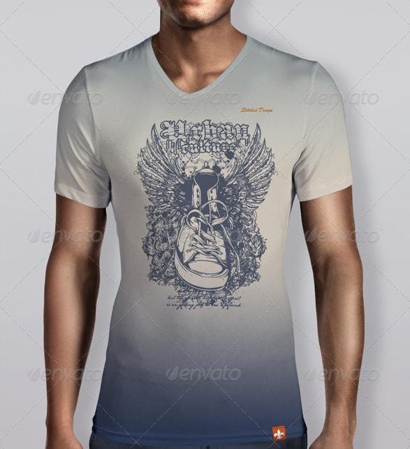 t-shirts & tanks (women and men) bundle - apparel mockups